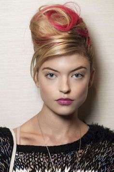 Stylish hair color - red strands on blond hair :: one1lady.com :: #hair #hairs #hairstyle #hairstyles