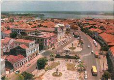 Igreja do Carmo e Praça Dom Pedro II em São Luis, Maranhão - BRASIL [foto antiga] .#jorgenca