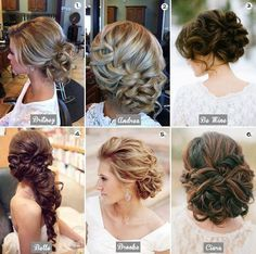 Low buns and hair styles.