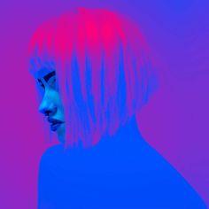 Neon Colors: Cosmic Fashion Photography by Slava Semeniuta #inspiration #photography