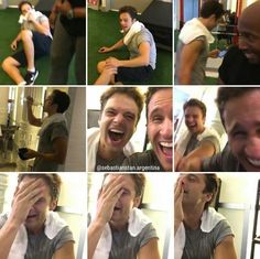 Sebastian Stan after his workouts is always ne