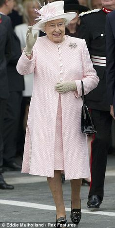 Queen Elizabeth in Pastel Pink