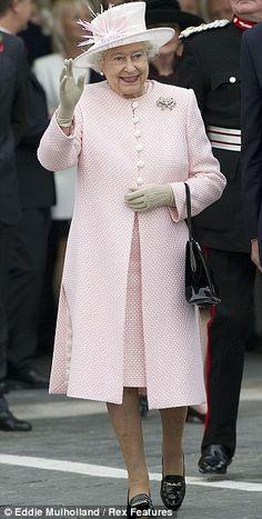 Queen Elizabeth in Pastel Pink