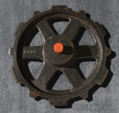 Antique and vintage industrial casters, gears, and wheels