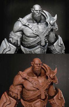 Orc Warcraft ( Fan Art ), Nu Eternity on ArtStation at https://www.artstation.com/artwork/orc-warcraft-fan-art