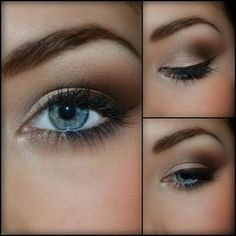 Another Elegant Look for Blue Eyes Chocolate - Brown Make Up. I don't have blue eyes but I love this. Time for some matte brown eyeshadow!