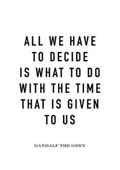 Make the most of what you have.