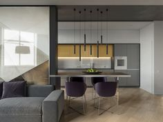 """""""Fresh"""" apartment.Design by ALIVE design.Location : Kiev , Ukraine .""""Fresh"""" apartment was made for young modern family which likes minimalistic and modern style of design. The configuration of apartment was not so simple, there was alot of walls with d…"""