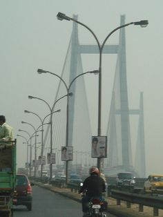 """2nd Hoogly Bridge"" - http://indiamegatravel.com/2nd-hoogly-bridge/"