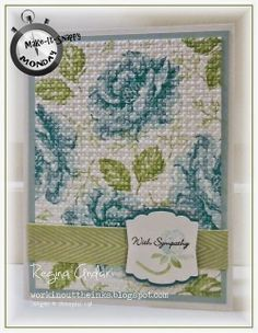 Lovely Embossed Stippled Blossoms Card...Regina Andari: Stampin' Up! - Workin' out the Inks.