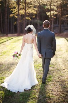 Love wedding pics as the bride and groom walk away. Beautiful to me. :)