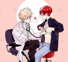 Todoroki:Doctor you're making my heart condition worse