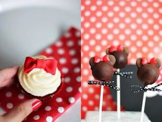 Cake pops Minnie Mouse