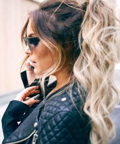 This is what my hair looks like and I LOVE when it is in a high ponytail! Ombré Hair, Big Hair, Hair Day, Love Hair, Great Hair, Gorgeous Hair, Hair Inspo, Hair Inspiration, Hair Looks