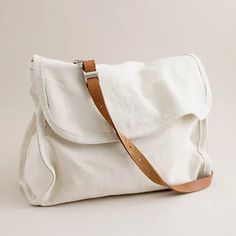 Shoulder Leather x Canvas Postal Messenger