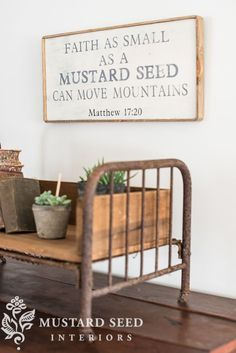 Farmhouse decorating - love this sign