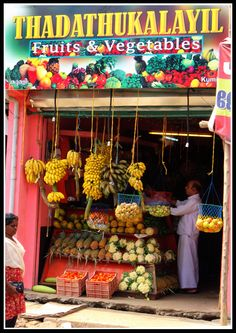 Fruits and vegetables store in Pondicherry_ India