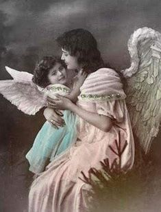 Free Digital Images Vintage, GIF and Clip Art - Artsy Bee Digital Images Vintage Pictures, Vintage Images, Vintage Cards, Vintage Postcards, Entertaining Angels, Victorian Angels, Victorian Women, I Believe In Angels, Angels Among Us