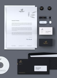 Perfect Beauty Stationery&Website on Behance