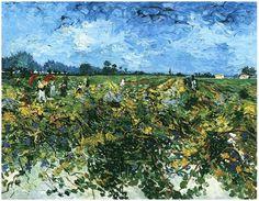 Vincent van Gogh El viñedo verde 1888