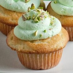 Pistachio Cupcakes - I made these for a bridal shower and they were delish.  I used pistachio pudding in the cupcake, but used  cheesecake pudding in the whipped cream frosting.  Everyone loved them.  (original recipe from Real Mom Kitchen)