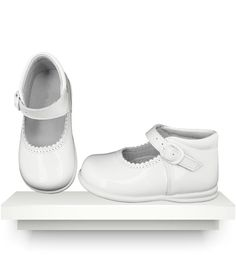 Spanish baby clothes | baby  | White patent shoes