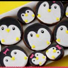 Repurposing Cutters Penquins Decorated Cookie Amp Cupcake