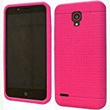 Alcatel OneTouch Conquest 7046T ( Boost Mobile / Sprint ) Phone Case Accessory Delicate Pink Soft Silicone Rubber Skin Cover with Free Gift Aplus Pouch
