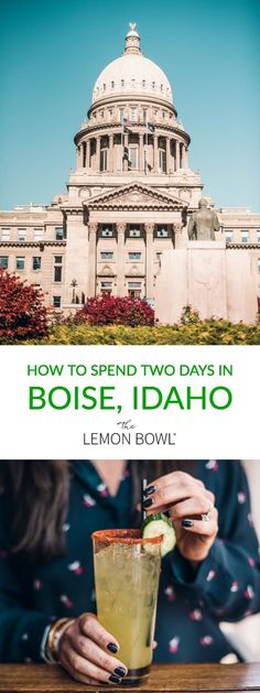 The ultimate 48 hour travel guide to Boise I'll tell you where to stay what to eat and what to do during your two day visit to Idaho! Lemon Bowl, Where Do I Go, Travel Tags, Boise Idaho, Need A Vacation, Vacation Ideas, Wanderlust Travel, World Traveler, Foodie Travel
