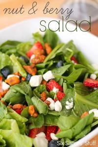 Six Sisters Nut and Berry Salad Recipe. It's a close copycat to Zupas nuts and berry salad.