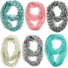 Chevron Infinity Scarves like these are great Stocking Stuffer Ideas and these are Black Friday Deals going on today!