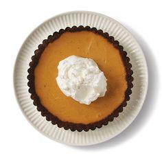 Pumpkin Cheesecake Tart with Gingersnap Crust