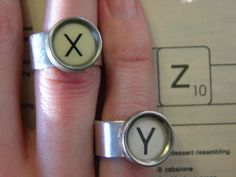 Typecast Ring Y Because We Like You by LongingFor on Etsy, $20.00