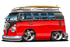 Catch tha Bus by on DeviantArt Volkswagen Bus, Vw T1, Bus Cartoon, Cartoon Car Drawing, Vw Caravan, Vw Camper, Weird Cars, Cool Cars, Wolkswagen Van
