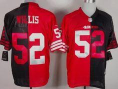 Nike San Francisco 49ers #52 Patrick Willis Red/Black Two Tone Elite Jersey