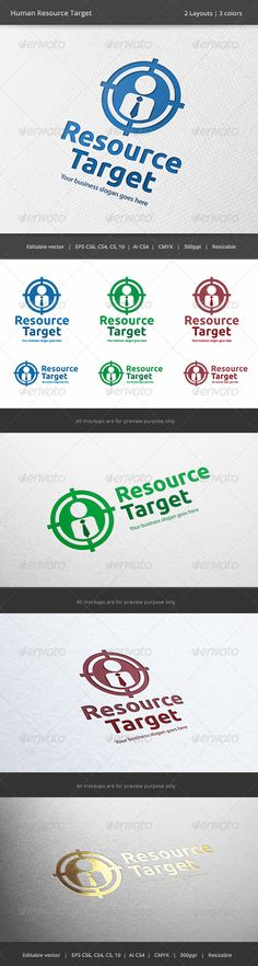 Human Resource Target Logo  #GraphicRiver         Files format : EPS 10, EPS CS, EPS CS4, EPS CS6, AI CS4  	 Color mode : CMYK  	 Resolution : 300PPI – Resizable  	 Free used font links included.                     Created: 28 November 13                    Graphics Files Included:   Vector EPS #AI Illustrator                   Layered:   No                   Minimum Adobe CS Version:   CS                   Resolution:   Resizable             Tags      aim #business #career #collect…