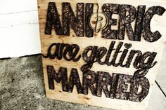 Getting Married Sign Getting Married, Events, Signs, Gallery, Wedding, Happenings, Mariage, Novelty Signs, Sign