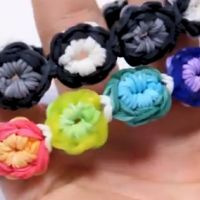 Unique advanced loom band tutorials Flower Burst Bracelet Instructions