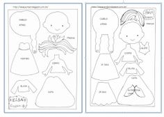 Moldes _ elsa e anna frozen Quiet Book Templates, Felt Templates, Applique Templates, Applique Patterns, Card Templates, Felt Patterns, Stuffed Toys Patterns, Felt Diy, Felt Crafts