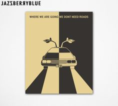 BACK TO The FUTURE Movie Poster Style Retro Pop by JazzberryBlue, $30.00