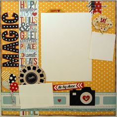 disney finished premade one12x12 scrapbook page by urbansavanna by urbansavanna on Etsy https://www.etsy.com/listing/192586335/disney-finished-premade-one12x12