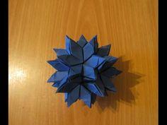 Оригами кусудама звезда. \ Origami Star Kusudama. - YouTube