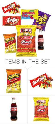 """snacktastic"" by stay-true-loyal ❤ liked on Polyvore featuring art"