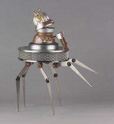 25 Scrap Material Sculptures by Brain Marshall - The worlds first robot orphanage. Read full article: http://webneel.com/webneel/blog/25-scrap-material-sculptures-brain-marshall-first-robot-orphanage | more http://webneel.com/sculptures | Follow us www.pinterest.com/webneel