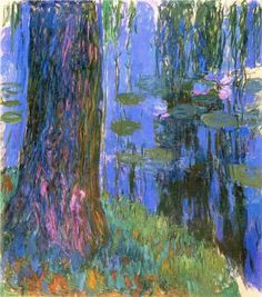 Weeping Willow and Water Lily Pond ~ Claude Monet