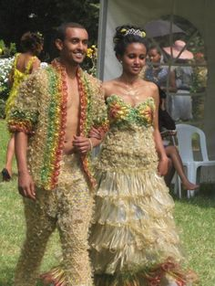 Formal wear made of condoms?!?!? :)
