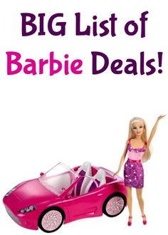 BIG List of Barbie Deals! {$8.88+} ~ check some gifts off the list! #barbies