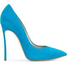 Casadei classic pointed pumps (16.140 CZK) ❤ liked on Polyvore featuring shoes, pumps, blue, blue pumps, pointed toe shoes, pointed toe high heel pumps, high heel shoes and leather slip on shoes