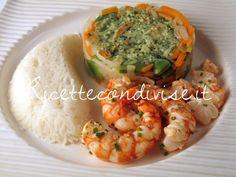 Ricetta Gamberoni con verdure e riso basmati