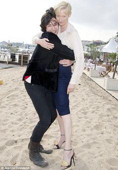 Ezra Miller and Tilda Swinton at Cannes